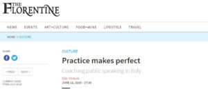 """Practice Makes Perfect"" in The Florentine newspaper, June issue, TF257"